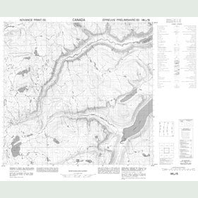Canadian Topo Map - Map 014L05