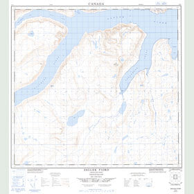 Canadian Topo Map - Saglek Fiord - Map 014L06
