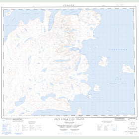 Canadian Topo Map - Cape Uivak - Map 014L07