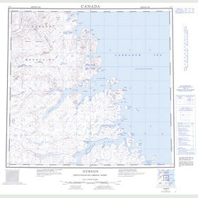 Canadian Topo Map - Hebron - Map 014L