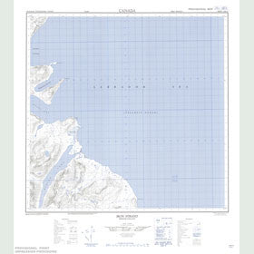 Canadian Topo Map - Iron Strand - Map 014M12