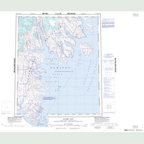 Canadian Topo Map - Hoare Bay - Map 016E