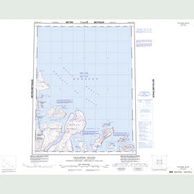 Canadian Topo Map - Padloping Island - Map 016M