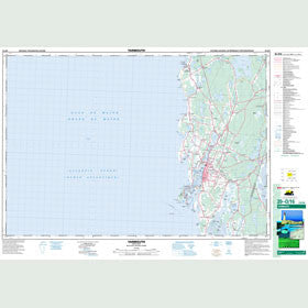 Canadian Topo Map - Yarmouth - Map 020O16