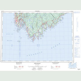 Canadian Topo Map - Shelburne - Map 020P