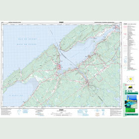Canadian Topo Map - Digby - Map 021A12