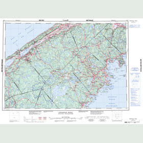 Canadian Topo Map - Annapolis Royal - Map 021A