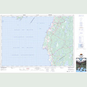 Canadian Topo Map - Meteghan - Map 021B01