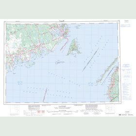 Canadian Topo Map - Eastport - Map 021B