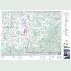 Canadian Topo Map - Coaticook - Map 021E04