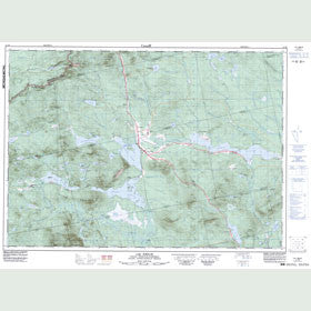 Canadian Topo Map - Lac Émilie - Map 021E09