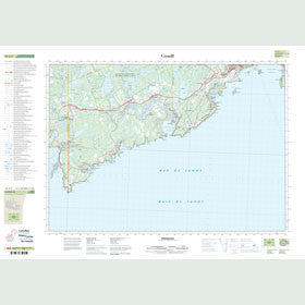 Canadian Topo Map - Musquash - Map 021G01