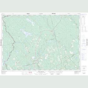 Canadian Topo Map - Rollingdam - Map 021G06