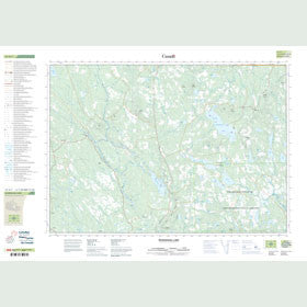 Canadian Topo Map - McDougall Lake - Map 021G07