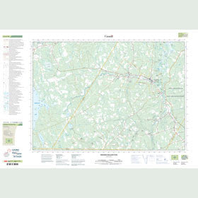 Canadian Topo Map - Fredericton Junction - Map 021G10