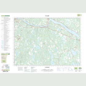Canadian Topo Map - Canterbury - Map 021G14