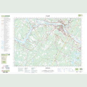 Canadian Topo Map - Fredericton - Map 021G15