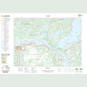 Canadian Topo Map - Grand Lake - Map 021G16