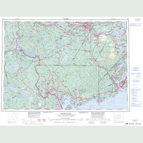 Canadian Topo Map - Fredericton - Map 021G