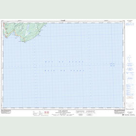Canadian Topo Map - Cape Spencer - Map 021H04