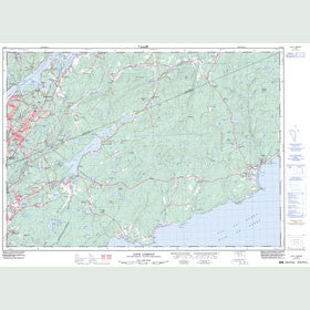 Canadian Topo Map - Loch Lomond - Map 021H05