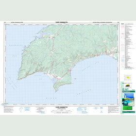 Canadian Topo Map - Cape Chignecto - Map 021H07