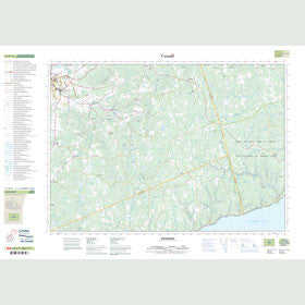 Canadian Topo Map - Waterford - Map 021H11