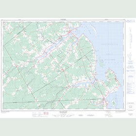 Canadian Topo Map - Buctouche - Map 021I07