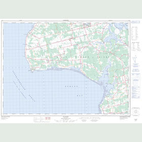 Canadian Topo Map - O'Leary - Map 021I09