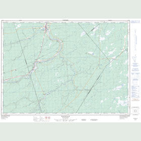 Canadian Topo Map - Blackville - Map 021I12