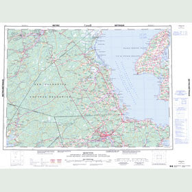 Canadian Topo Map - Moncton - Map 021I