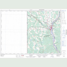 Canadian Topo Map - Woodstock - Map 021J04