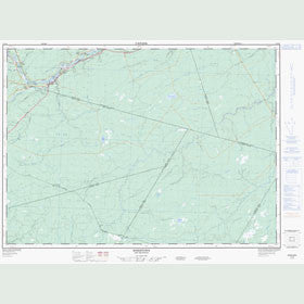 Canadian Topo Map - Boiestown - Map 021J08