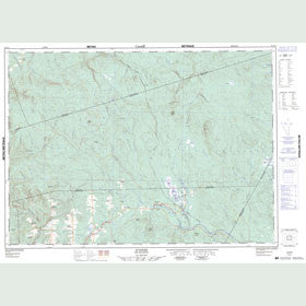 Canadian Topo Map - Juniper - Map 021J11