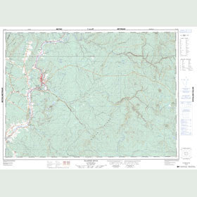 Canadian Topo Map - Plaster Rock - Map 021J14