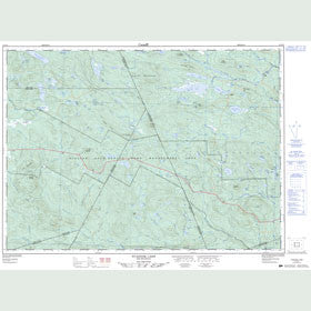 Canadian Topo Map - Tuadook Lake - Map 021J15