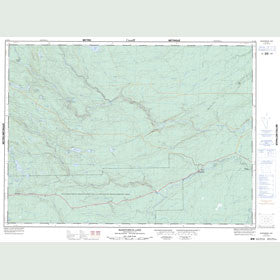 Canadian Topo Map - McKendrick Lake - Map 021J16