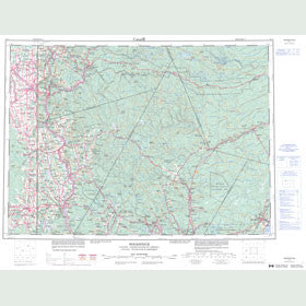Canadian Topo Map - Woodstock - Map 021J
