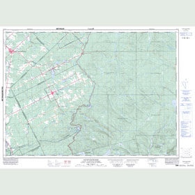 Canadian Topo Map - Saint-Zacharie - Map 021L01