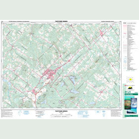 Canadian Topo Map - Thetford Mines - Map 021L03