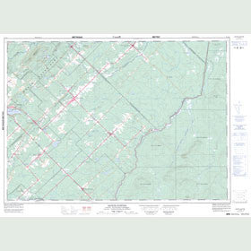 Canadian Topo Map - Sainte-Justine - Map 021L08