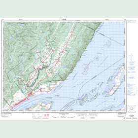 Canadian Topo Map - Saint-Joachim - Map 021M02
