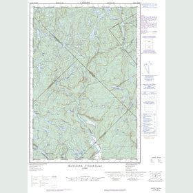 Canadian Topo Map - Rivière Tourilli - Map 021M04W