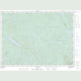 Canadian Topo Map - Lac Batiscan - Map 021M05