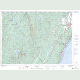 Canadian Topo Map - Maillard - Map 021M07