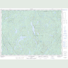 Canadian Topo Map - Lac aux Écorces - Map 021M13