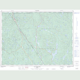 Canadian Topo Map - Lac Pikauba - Map 021M14