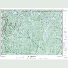 Canadian Topo Map - Lac au Plongeon - Map 021M16