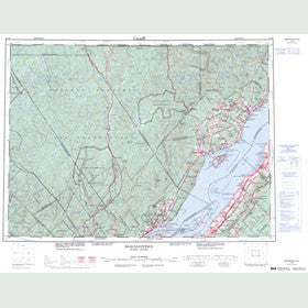 Canadian Topo Map - Baie-Saint-Paul - Map 021M