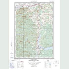 Canadian Topo Map - Connors - Map 021N02E